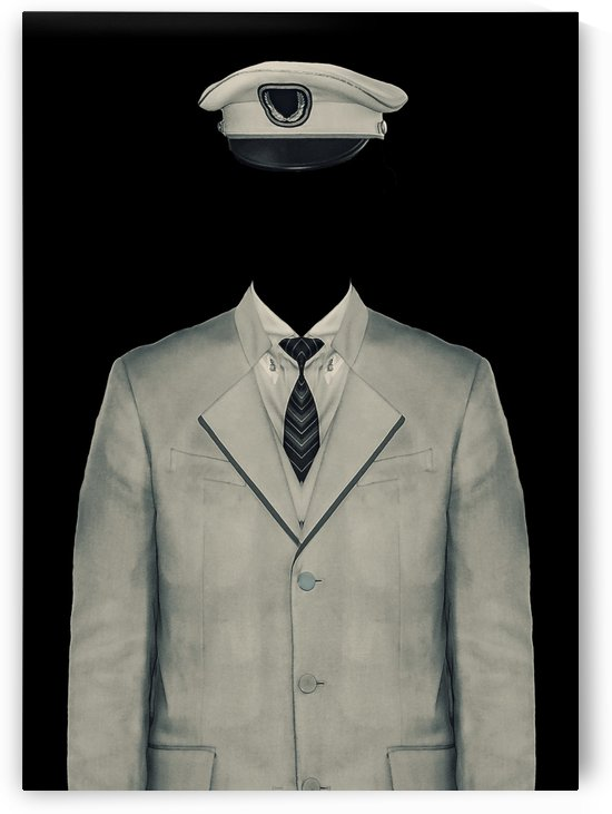 Surreal Officer Man Portrait by Daniel Ferreia Leites Ciccarino