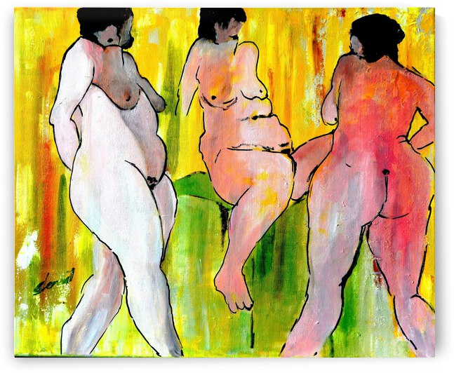 Three Nude Ladies by Clement Tsang