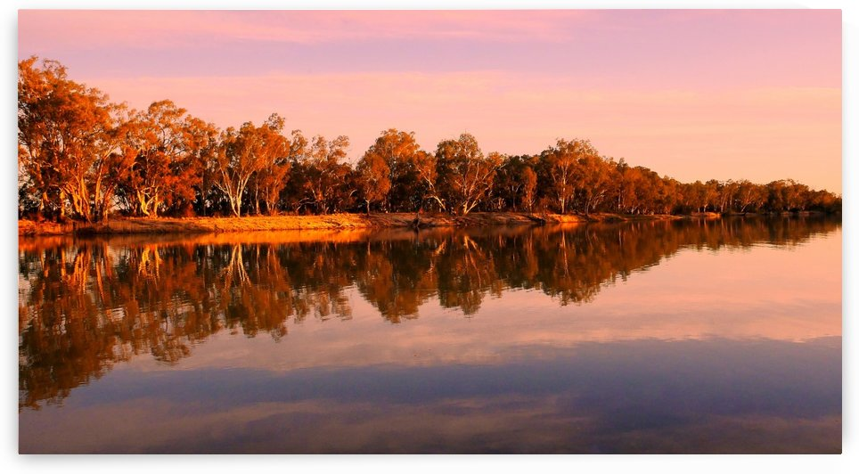 Sunset on the Murray River by Lexa Harpell