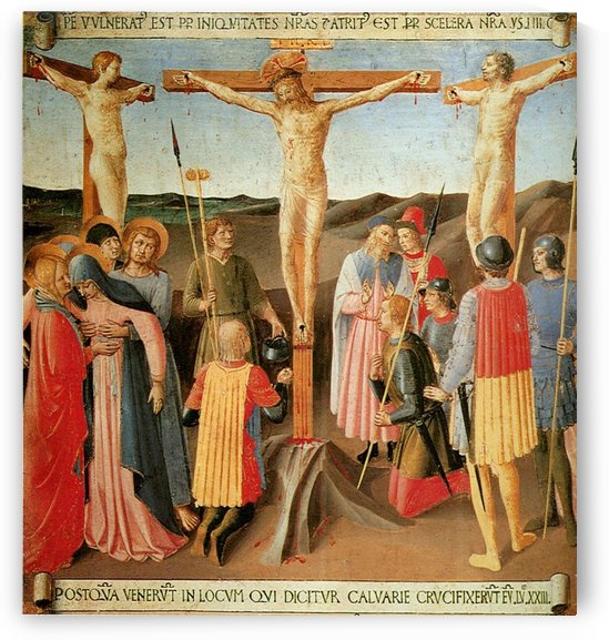 Armadio degli Argenti, Crucifixion by Fra Angelico