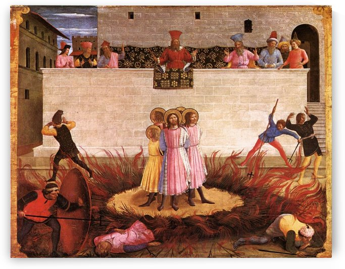 Saint Cosmas and Saint Damian Condamned by Fra Angelico