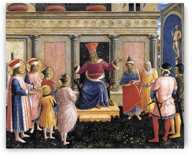 Saint Cosmas and Saint Damian before lisius by Fra Angelico