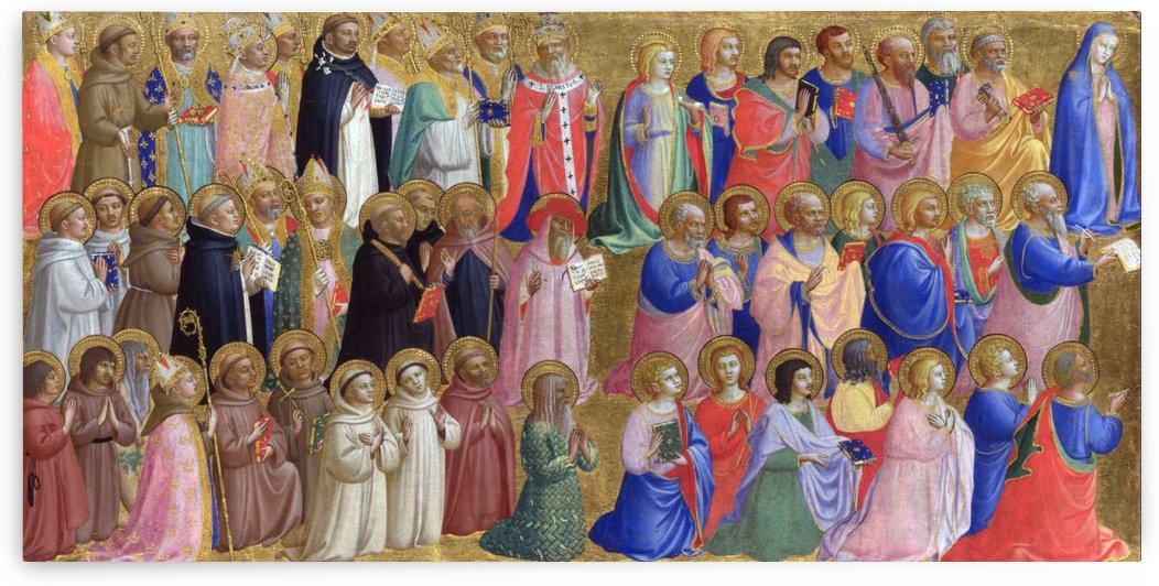 The Virgin Mary with the Apostles and Saints by Fra Angelico