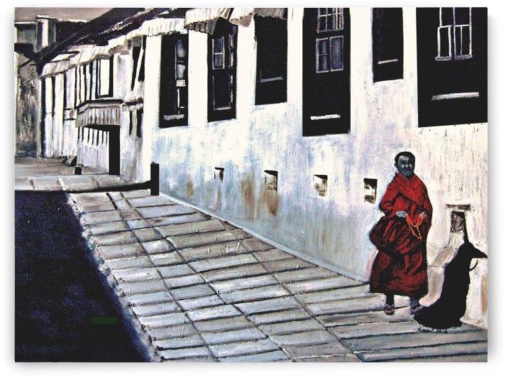 Tibet Monk by Clement Tsang