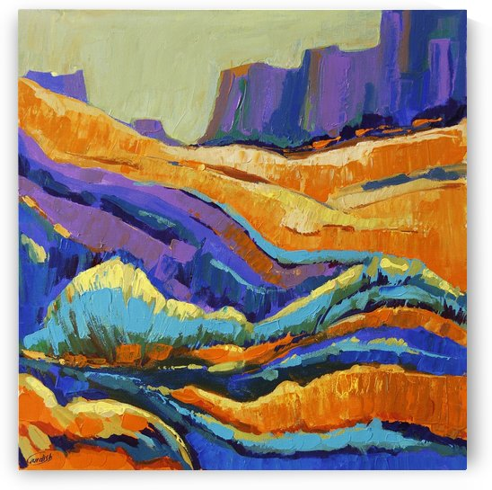 The Grand Canyon_8 18x18 by Gurdish Pannu India