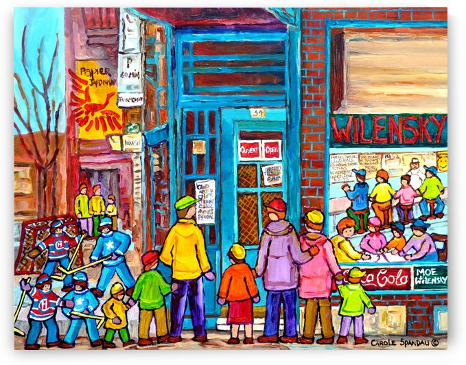 MONTREAL PAINTINGS  WILENSKY COUNTER FAIRMOUNT AND CLARK WINTER SCENES by Carole  Spandau