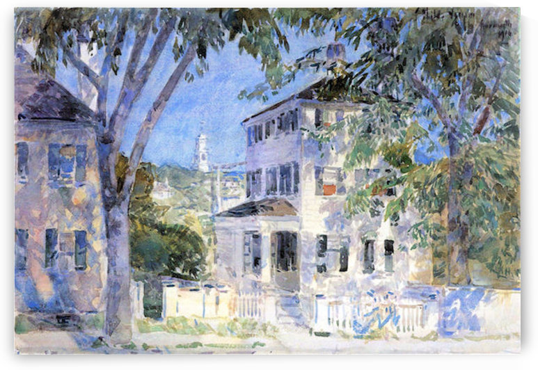 Street in Portsmouth by Hassam by Hassam
