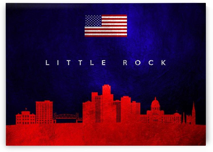 Little Rock Arkansas Skyline by ABConcepts