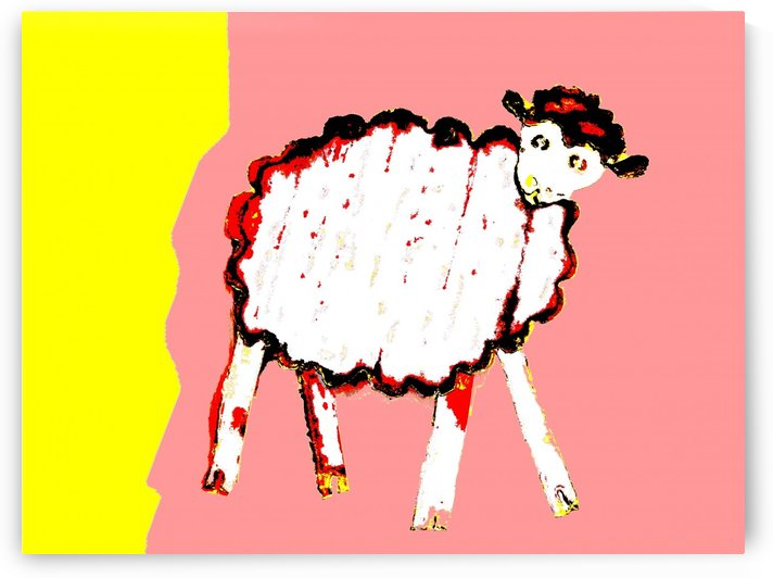 Little Aussie Sheep - Pink by Lexa Harpell