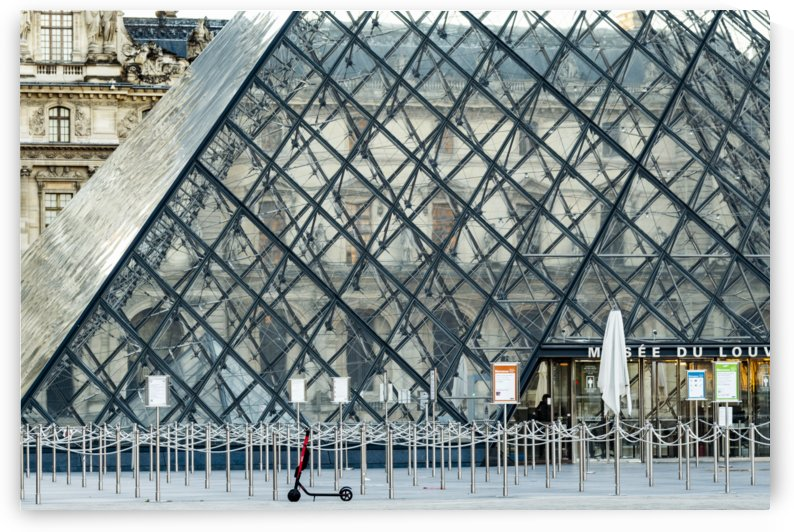 First in Line at the Louvre by Jean Farrell