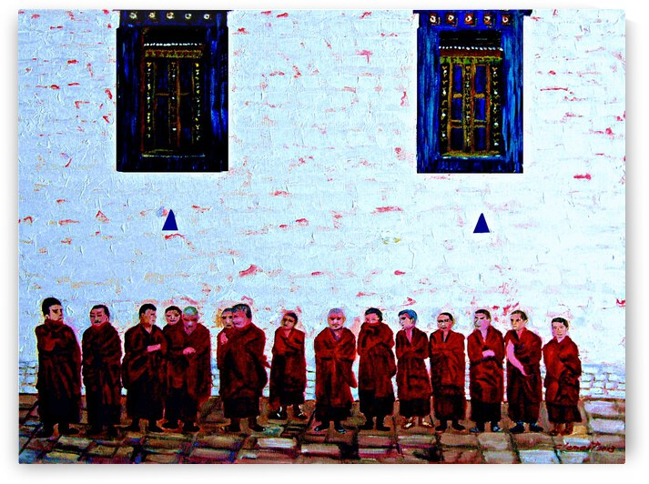 Tibet Monks by Clement Tsang