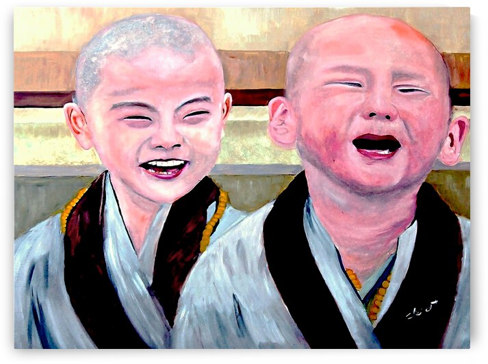 Baby Monks by Clement Tsang