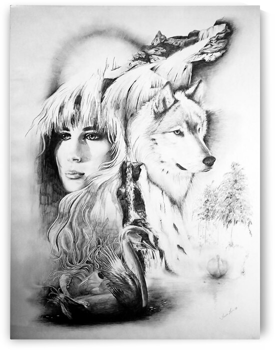 AP - Lady and Wolf by Clement Tsang