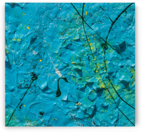 abstract blue painting rough texture by BBS Art