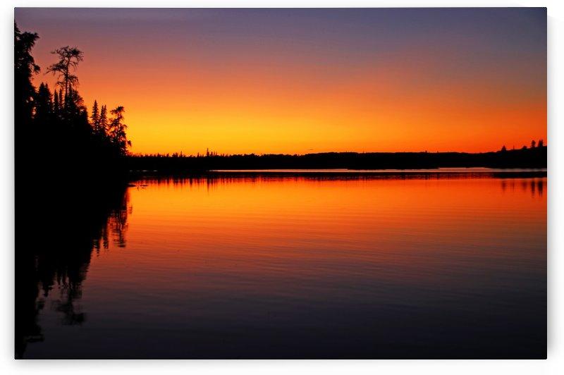 Vibrant Bonar Lake Sunset by Deb Oppermann
