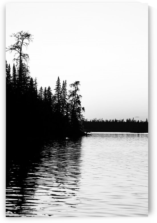 Bonar Lake Black And White by Deb Oppermann