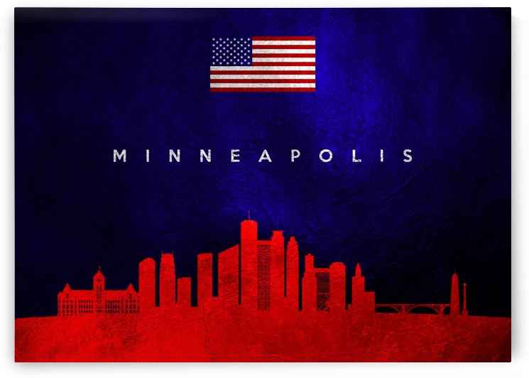 Minneapolis Minnesota Skyline by ABConcepts