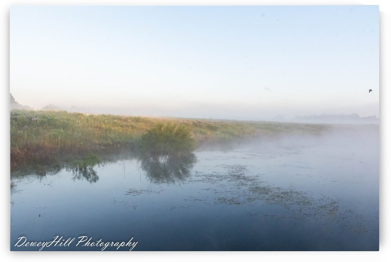 Fog rolling in over the pond by DeweyHill Photography