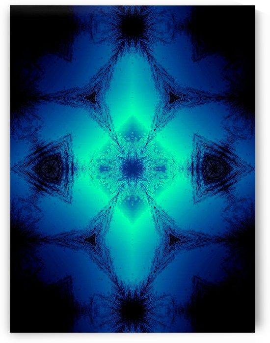 Blue Diamond Abstract Art by Jeremy Lyman
