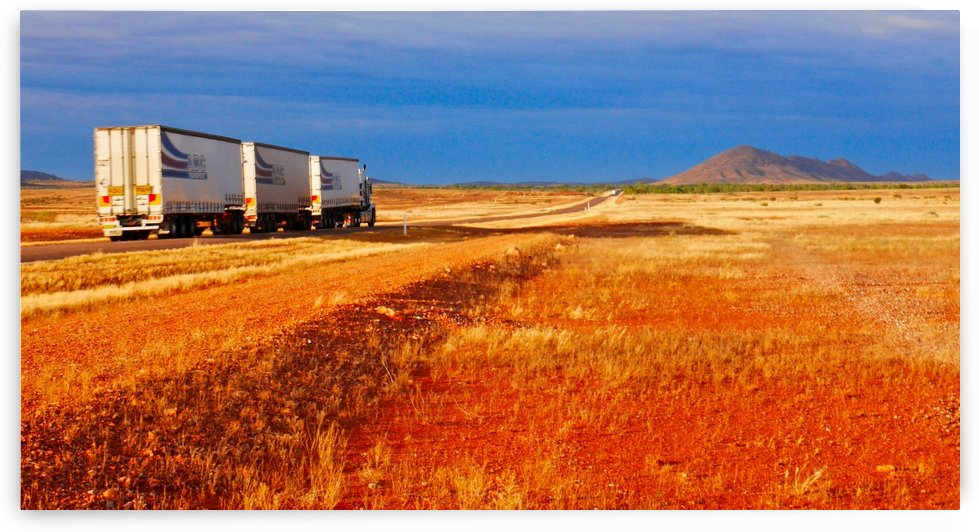 Road Train to Somewhere by Lexa Harpell