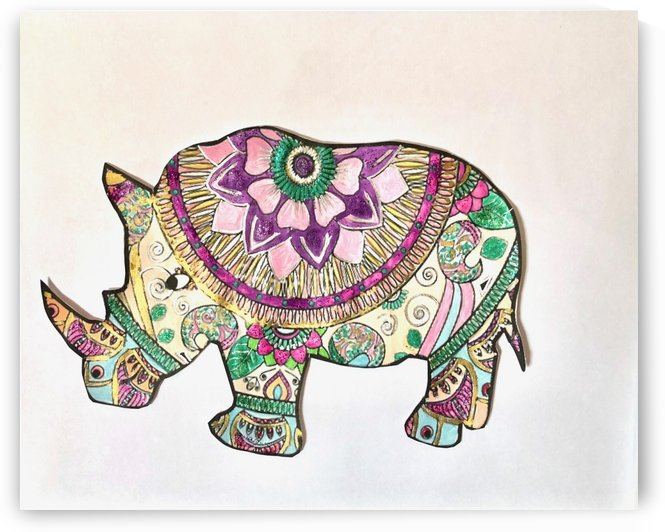 Rhinoceros  by Zaramar Paintings
