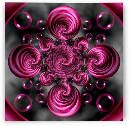 Satin Rose Twirl Vortex Circular Spirals by xzendor7
