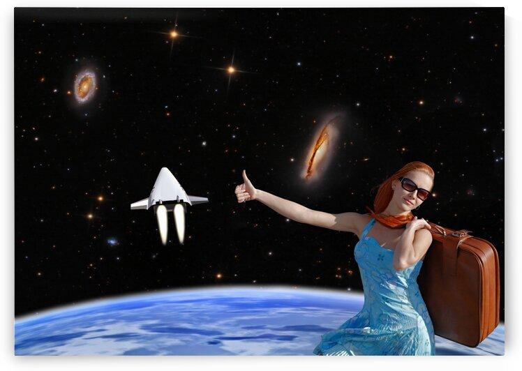 Girl travels into space. by Radiy Bohem