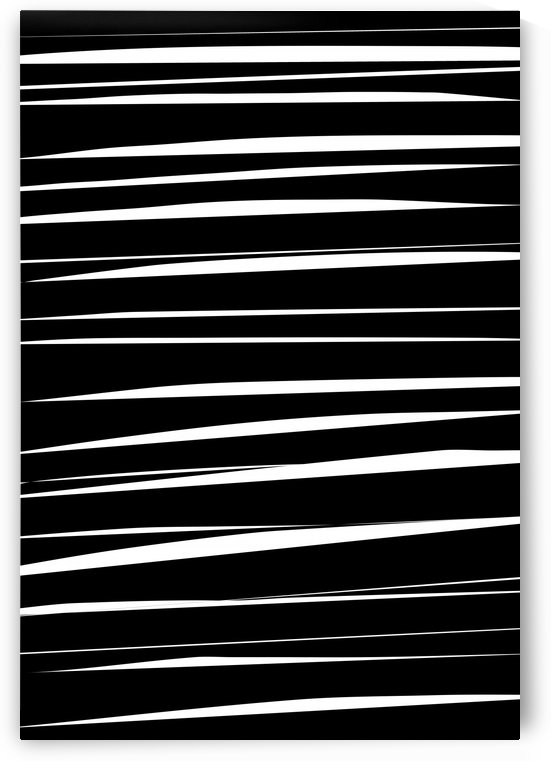 Black and White Abstract Stripes  by Leah McPhail