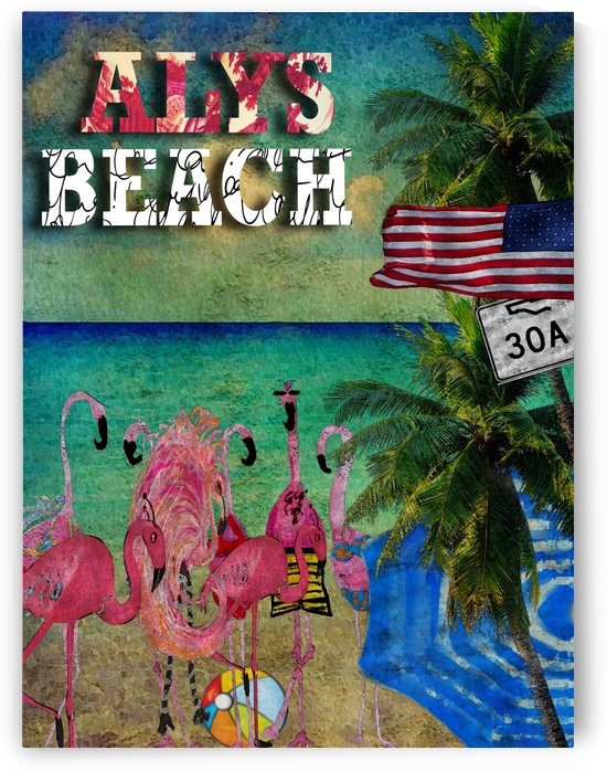 Alys Beach Flamingos by Nancy Calvert