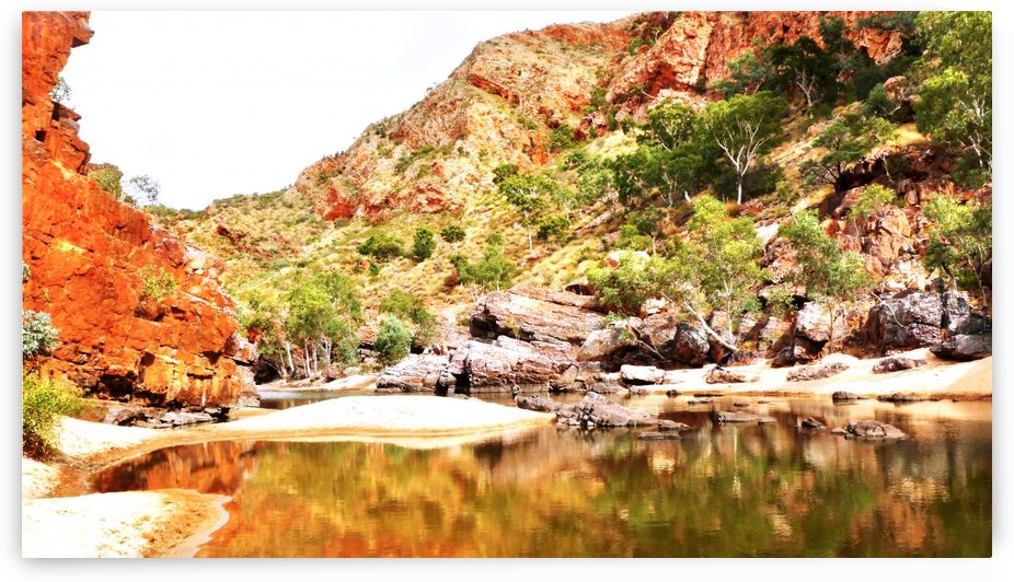 Crossing the River - Ormiston Gorge by Lexa Harpell