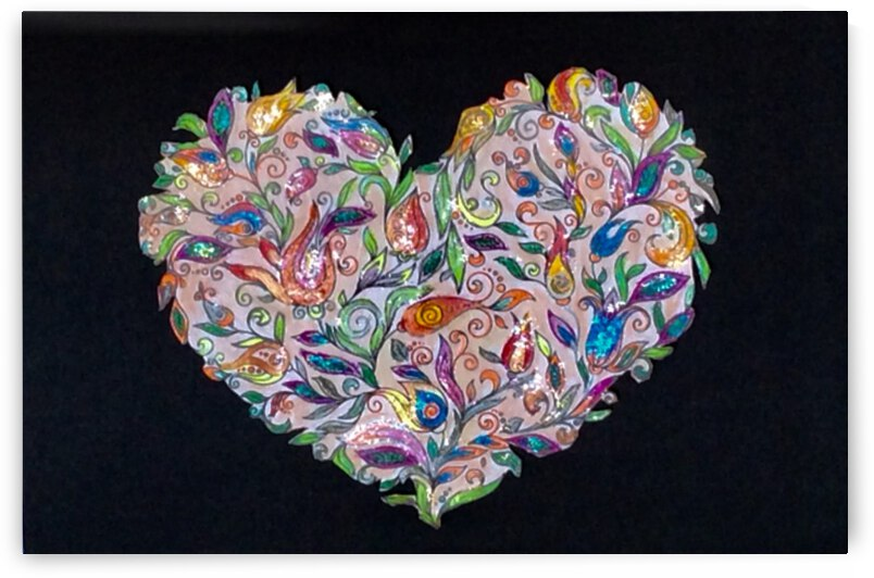 Hearts & Flowers  by Zaramar Paintings