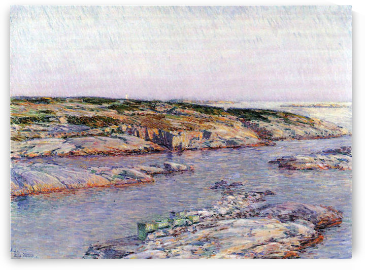 Summer afternoon, the Isles of Shoals by Hassam by Hassam