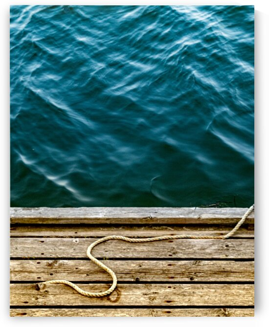 Rope on the Dock by Dave Therrien