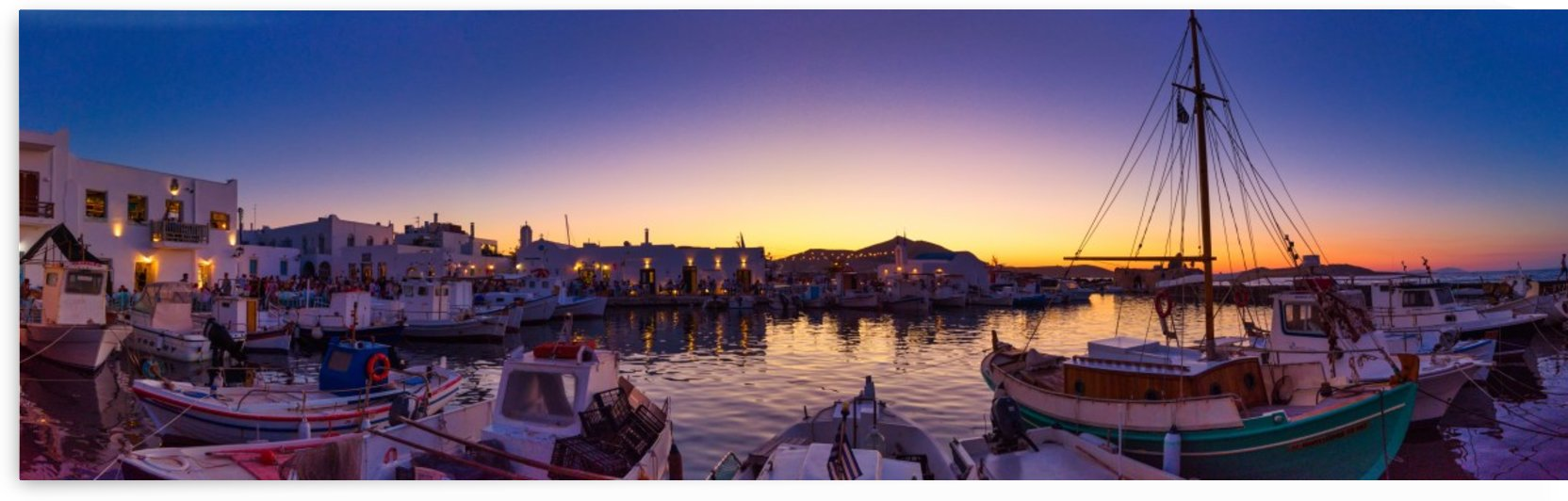Picturesque view of harbor at sunrise by Pixelme ca