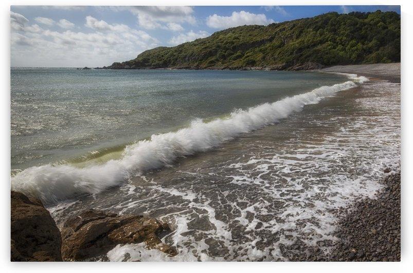 Crashing waves at Pwll Du Bay by Leighton Collins