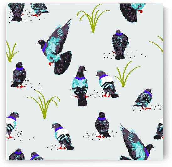pigeons art print by 83 Oranges