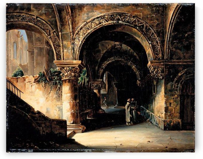 Under the Bridge by Louis-Jaques-Mande Daguerre