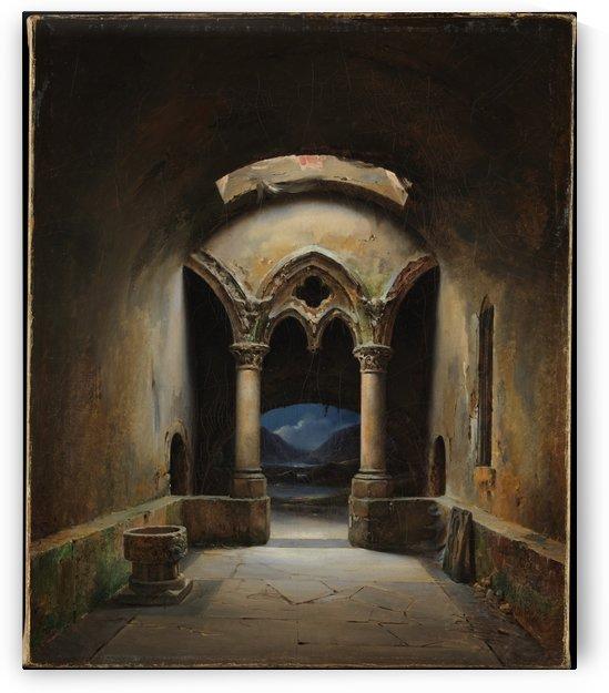 Gothic Chapel by Louis-Jaques-Mande Daguerre