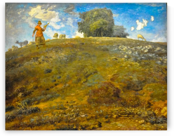In the Auvergne by Jean-Francois Millet