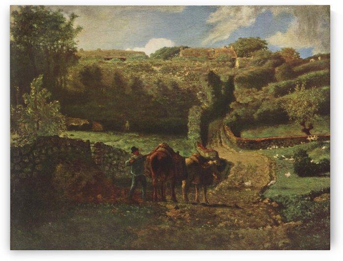 Manor farm Cousin in Greville by Jean-Francois Millet