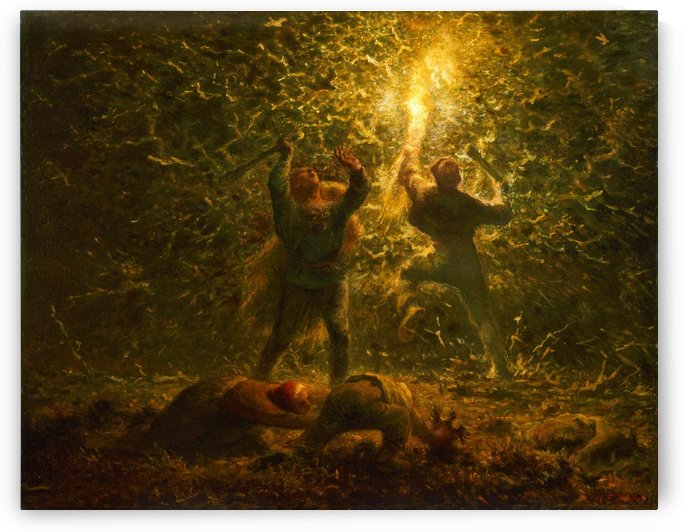 Hunting Birds at Night by Jean-Francois Millet