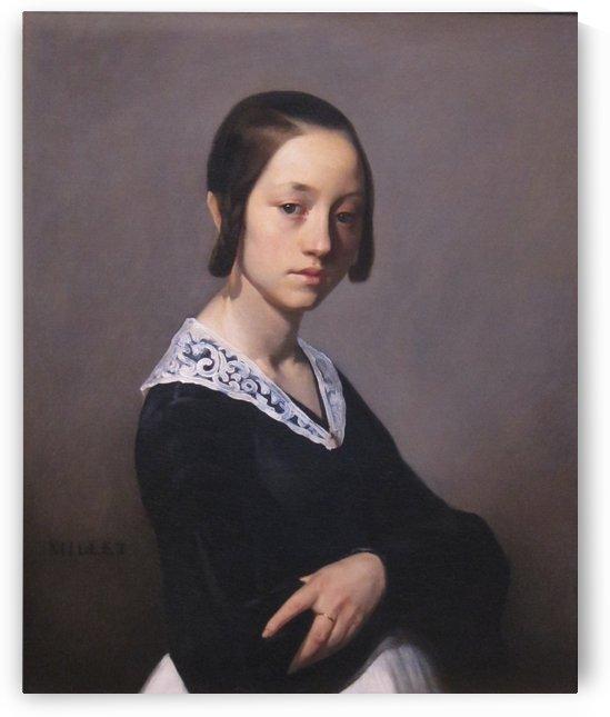 Portrait of Louise-Antoinette Feuardent Jean-Francois Millet by Jean-Francois Millet