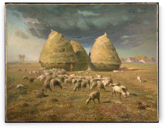 Haystacks - Autumn by Jean-Francois Millet