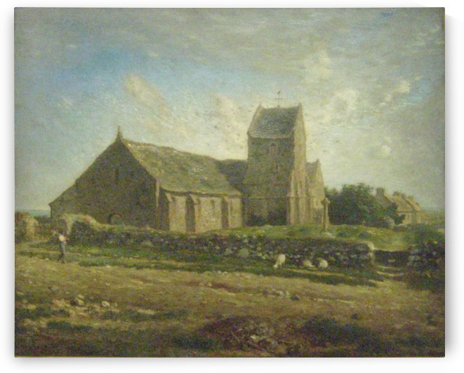 The Church of Greville by Jean-Francois Millet