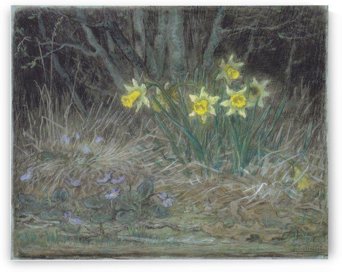 Narcissi and Violets by Jean-Francois Millet