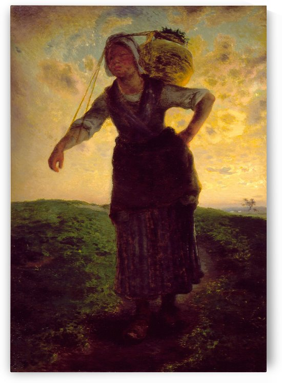 A Norman Milkmaid at Greville by Jean-Francois Millet