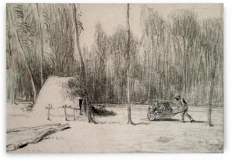 The Charcoal Burner's Hut by Jean-Francois Millet