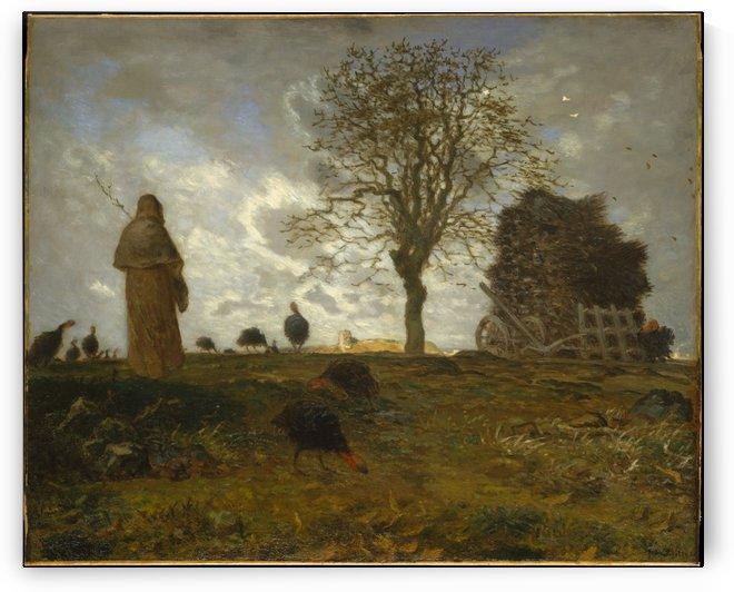 Autumn Landscape by Jean-Francois Millet