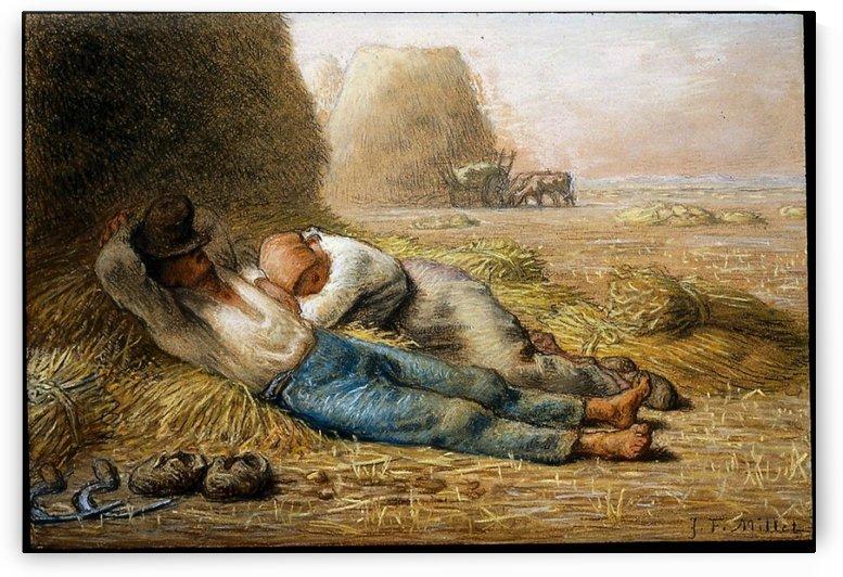 Sleeping peasants by Jean-Francois Millet