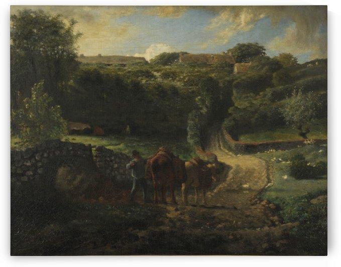 Hameau cousin a Greville by Jean-Francois Millet